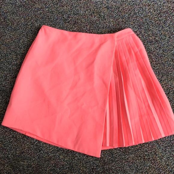 15e03a663 Topshop Skirts   Top Shop Highlighter Pink Pleated Skirt   Poshmark